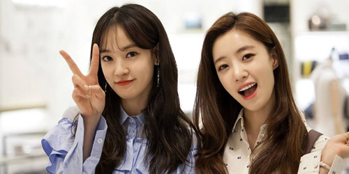 Lee Joo Yeon cùng với Eun Jung (T-ara) trong phimAll kinds of daughters-in-law.