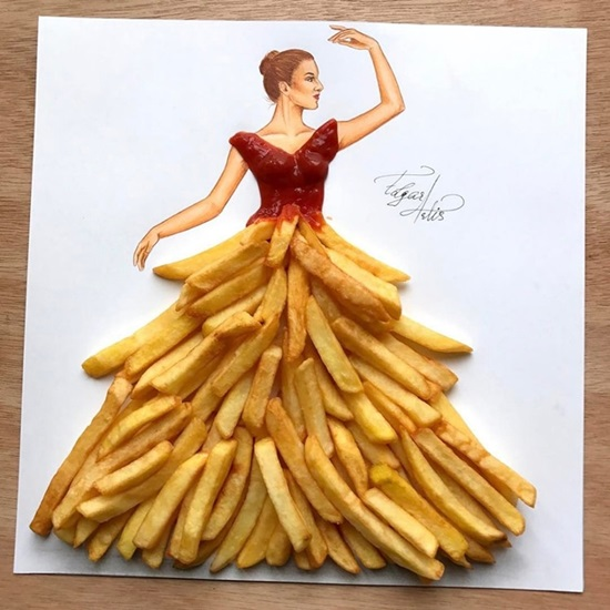 Rau củ, bánh trái bỗng chốc hóa váy áo đẹp lung linh - 4