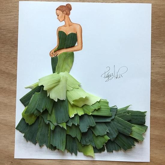 Rau củ, bánh trái bỗng chốc hóa váy áo đẹp lung linh - 8