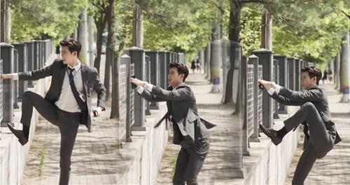 Lee Jong Suk tận dụng đôi chân dài của mình để chạy trốn trongKhi nàng say giấc.