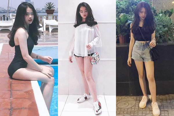 Linh Ka thích phong cách gợi cảm dù đang ở tuổi teen.