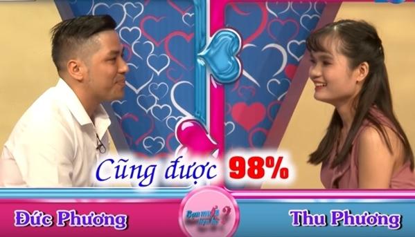 Cặp đôi Đức Phương - Thu Phương tại show hẹn hò.