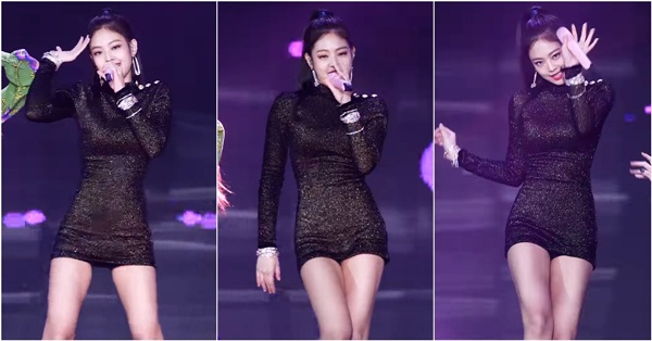 Idol sang chảnh Jennie khoe hình thể với chiếc váy hàng hiệu