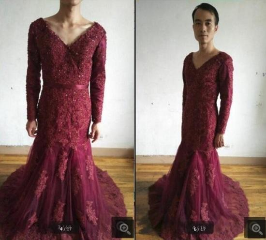Chàng trai mặc váy làm mẫu quảng cáo để hút khách  - 3