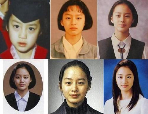 Kim Tae Hee đẹp từ bé đến lớn.