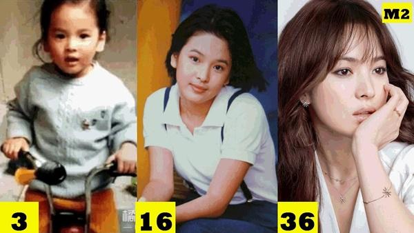 Nhan sắc Song Hye Kyo từ thuở bé đến hiện tại.