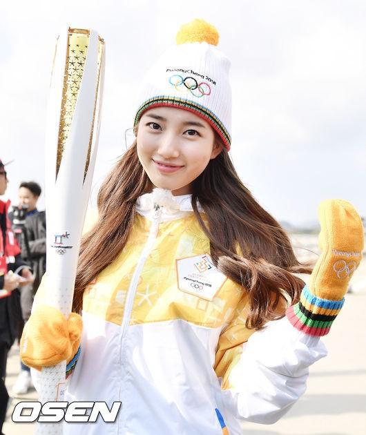 Dàn nữ thần, nam thần xứ Hàn tỏa sáng tại lễ rước đuốc Olympic - 1
