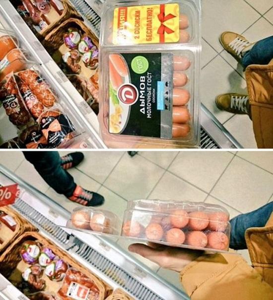 Bị lừa ngoạn mục vì cách đóng gói hàng ăn gian - 1