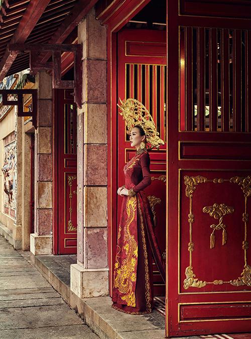 Trang phục dân tộc của Tường Linh tại Hoa hậu Liên lục địa - 6