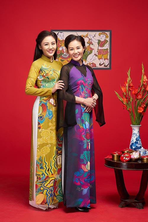 Văn Mai Hương khoe mẹ trẻ trung trong bộ ảnh đón Tết - 4