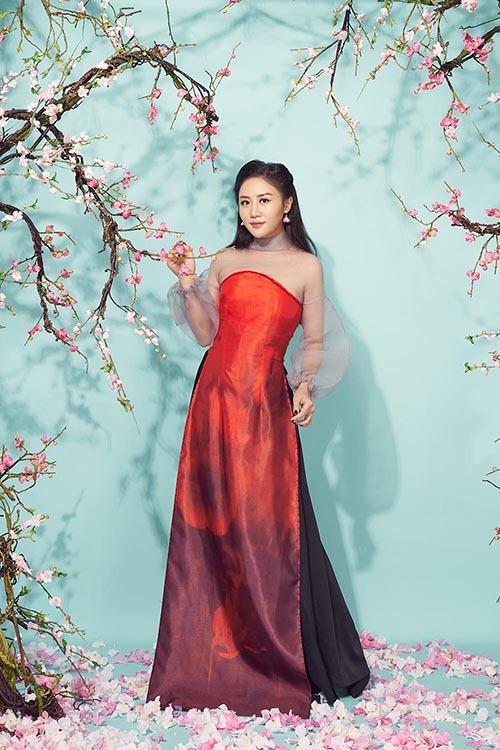 Văn Mai Hương khoe mẹ trẻ trung trong bộ ảnh đón Tết - 5