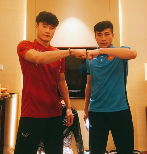 Hai anh em Tiến Dũng (trái) và Tiến Dụng.