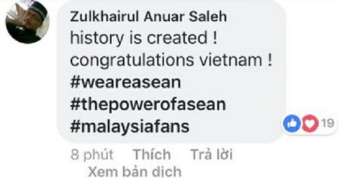 Lịch sử đã được tạo nên! Chúc mừng Việt Nam!