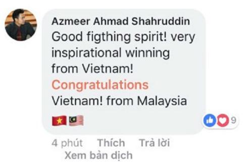 Tinh thần chiến đấu thật tuyệt! Một chiến thắng truyền cảm hứngrất lớn từ Việt Nam!
