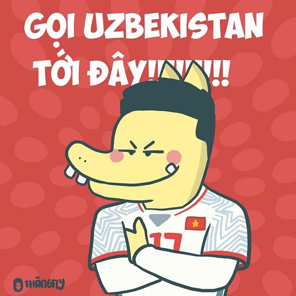 Fanart dáng đứng lừng lững của cầu thủ mang áo số 17 đang được chia sẻ rần rần trên mạng xã hội, với quyết tâm chiến thắng U23Uzbekistan, mang cúp vô địch về cho Việt Nam.