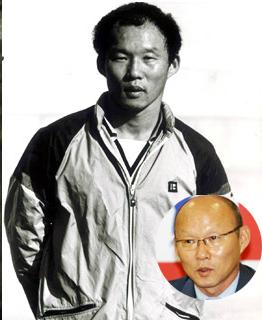 Ông Park Hang Seo từng có mái tóc xoăn dày dặn.