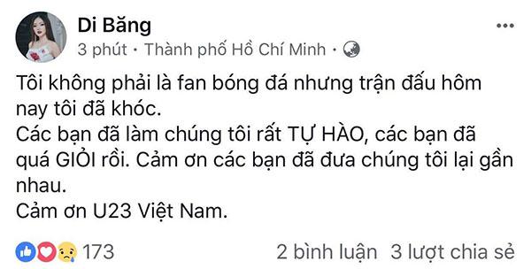 U23 Việt Nam trong lòng sao Việt mãi là người hùng