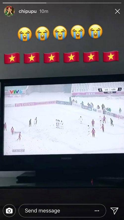 Sao Việt xót xa nhìn U23 Việt Nam thi đấu trong bão tuyết - 3