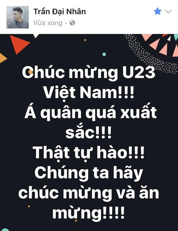 U23 Việt Nam trong lòng sao Việt mãi là người hùng - 2