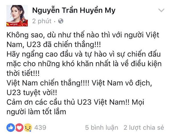 U23 Việt Nam trong lòng sao Việt mãi là người hùng - 4
