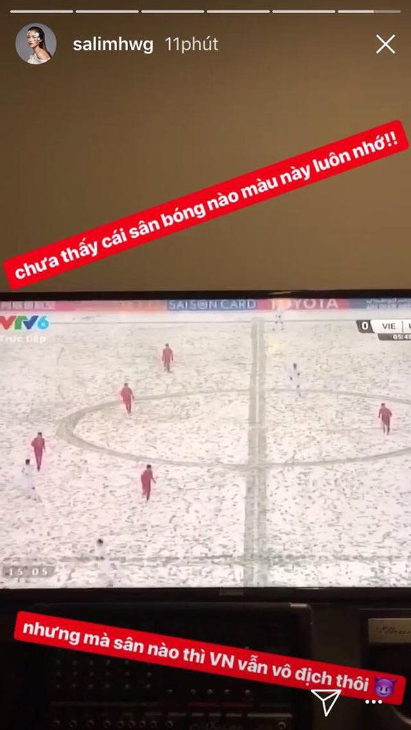 Sao Việt xót xa nhìn U23 Việt Nam thi đấu trong bão tuyết - 1