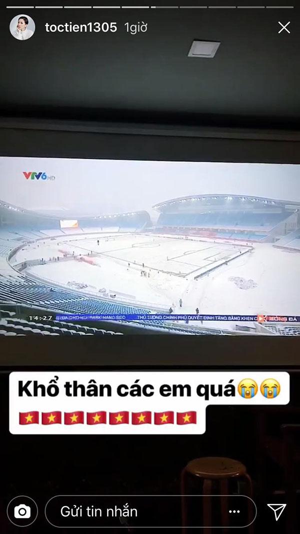 Sao Việt xót xa nhìn U23 Việt Nam thi đấu trong bão tuyết - 2