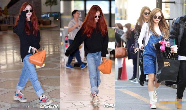 Không cần giày cao gót, 5 mỹ nhân Hàn đi sneakers đã đủ sang chảnh - 2