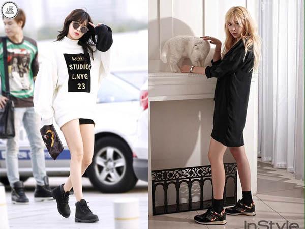 Không cần giày cao gót, 5 mỹ nhân Hàn đi sneakers đã đủ sang chảnh - 3