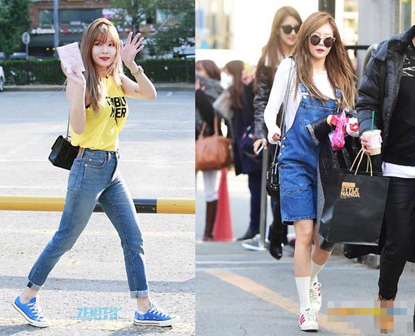 Không cần giày cao gót, 5 mỹ nhân Hàn đi sneakers đã đủ sang chảnh - 4