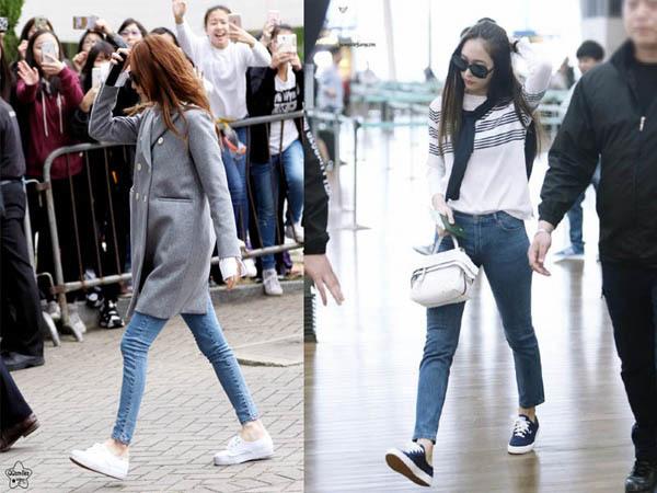 Không cần giày cao gót, 5 mỹ nhân Hàn đi sneakers đã đủ sang chảnh - 8
