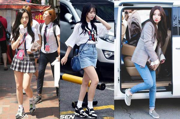 Không cần giày cao gót, 5 mỹ nhân Hàn đi sneakers đã đủ sang chảnh - 5