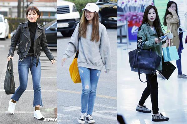 Không cần giày cao gót, 5 mỹ nhân Hàn đi sneakers đã đủ sang chảnh - 10