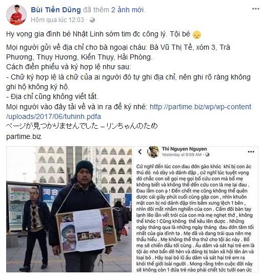 Cầu thủ U23 chia sẻ nỗi đau với gia đình bé Nhật Linh.