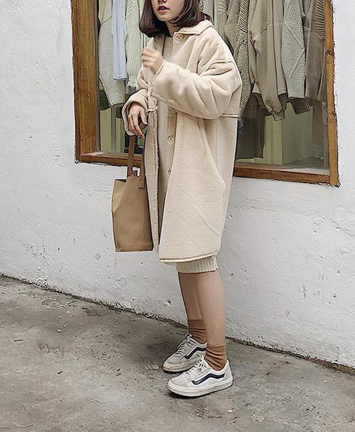Mốt áo chăn bông vừa ấm vừa sành điệu ăn đứt áo phao - 10