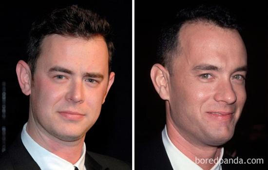 Colin Hanks và Tom Hanks khi 30 tuổi.