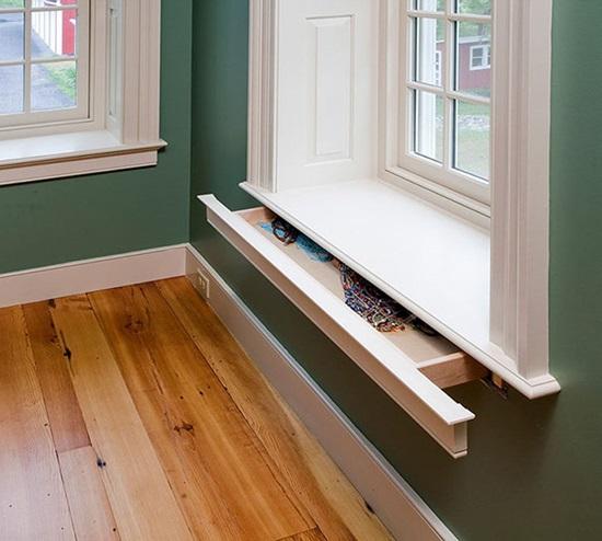 Ai mà phát hiện ra bệ cửa sổ lại có ngăn kéo chứ?