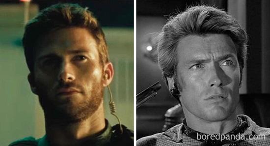 Scott Eastwood và Clint Eastwood khi 30 tuổi.