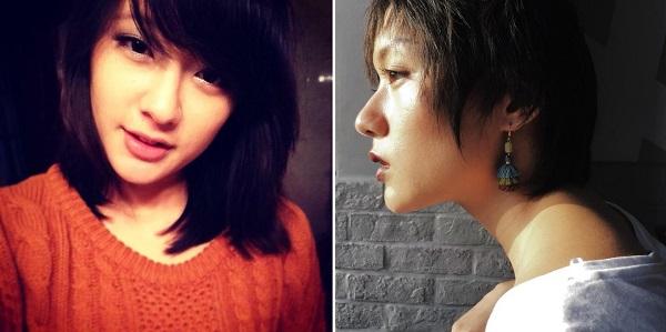 Hiện cô nàng đã từ bỏ mái tóc dài và để bộ tóc ngắn đầy cá tính.