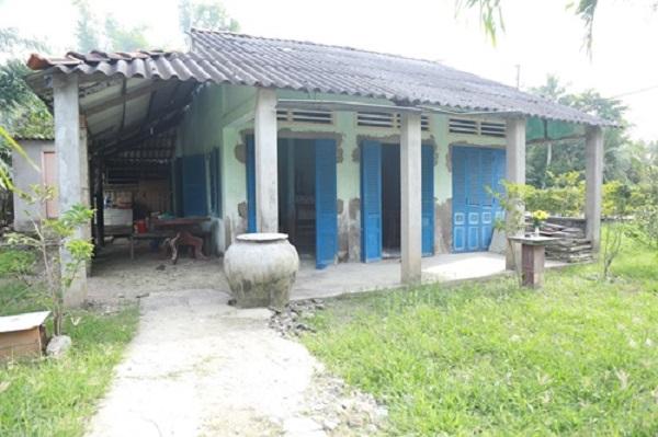 Căn nhà cũ của gia đình Hồ Văn Cường tại quê hương Gò Công (Tiền Giang).