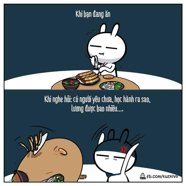 Để yên cho người ta ăn không thì bảo.