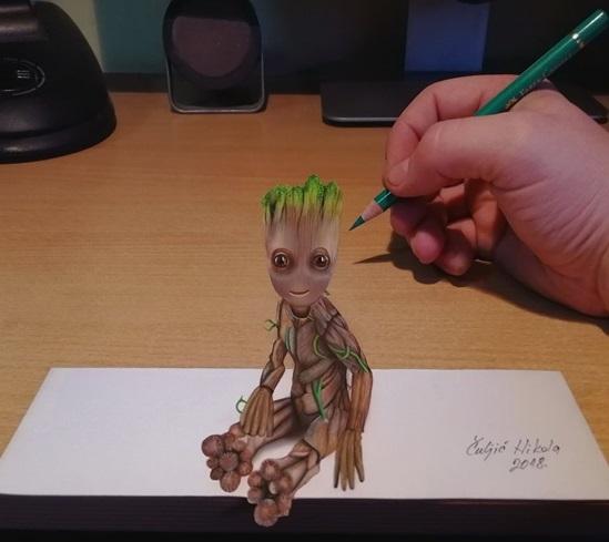 Nhân vật Groot trong Guardians Of The Galaxy.