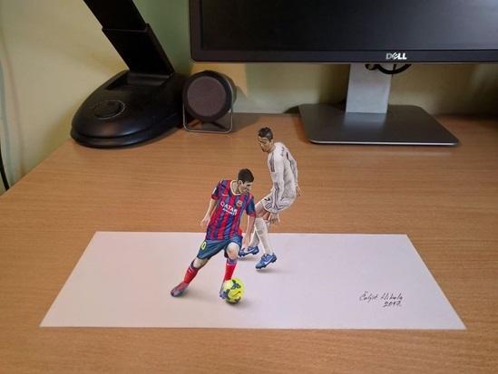 Messi và Cristiano Ronaldo.