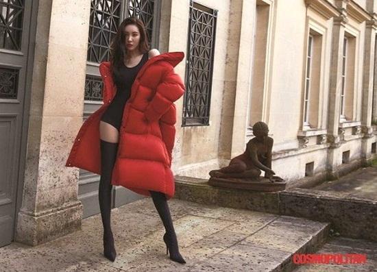 Sun Mi nổi tiếng vì thân hình gầy gò, đôi chân dài miên man không cần photoshop.
