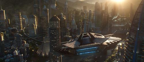 Vương quốc Wakanda giàu có và thịnh vượng trong phimBlack Panther.
