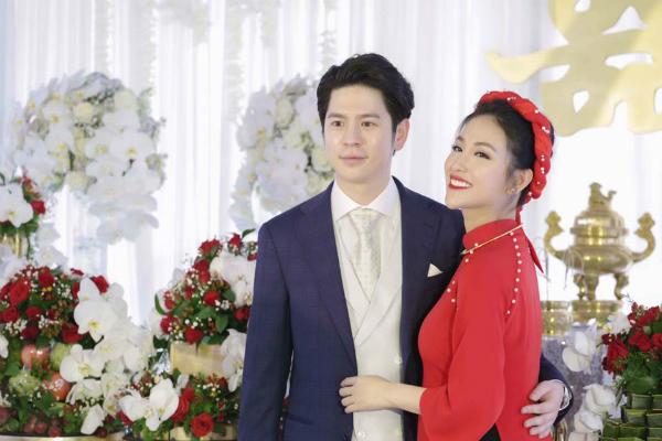 Mai Hồ và chồng sắp cưới điển trai.