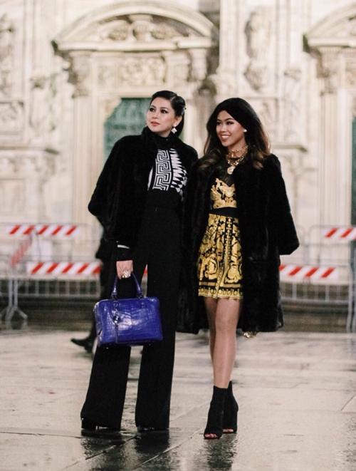 Thảo Tiên sành điệu xứng tầm rich kids tại Milan Fashion Week
