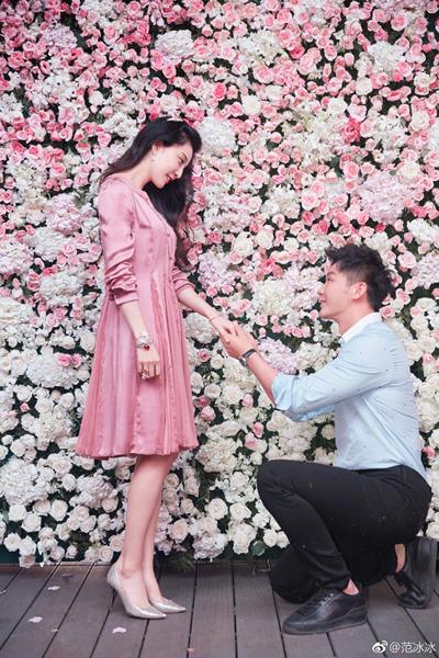 Lý Thần cầu hôn Phạm Băng Băng vào tháng 9/2017.