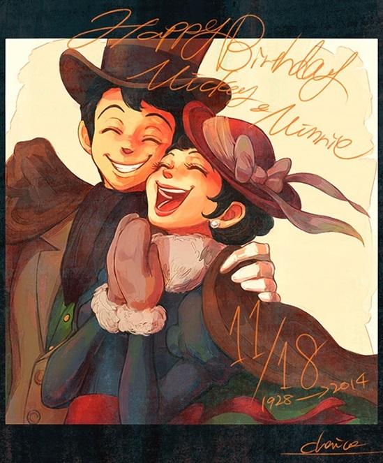 Mickey và Minnie đều trở thành trai xinh gái đẹp rồi.