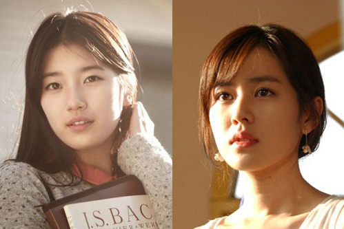 Hai lứa thế hệ tình đầu quốc dân là Suzy và Son Ye Jin.