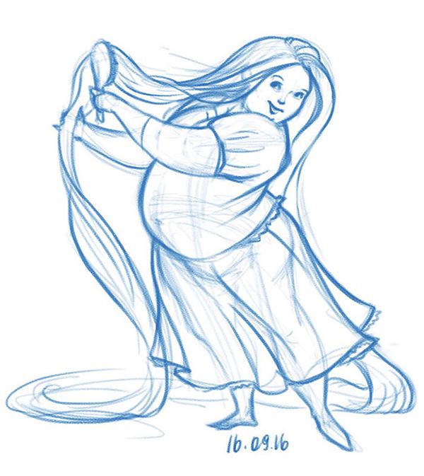 Công chúa Disney phiên bản sắc đẹp ngàn cân - 7